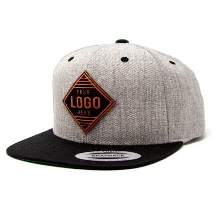 YP19-LP Flat Bill Cap with Leather Patch